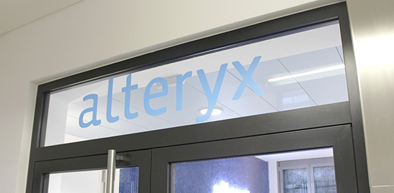 Branding for the new Alteryx Office in Munich