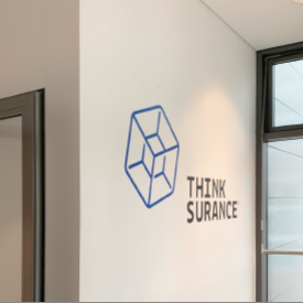 Branding for new office for Thinksurance in Frankfurt